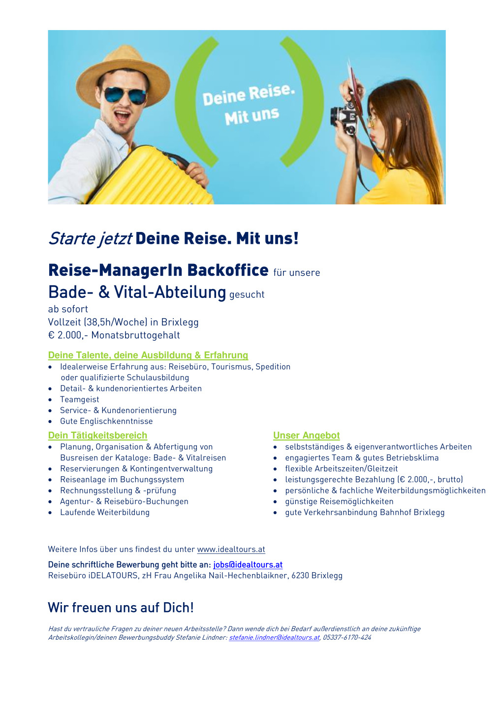 Reise-ManagerIn Backoffice