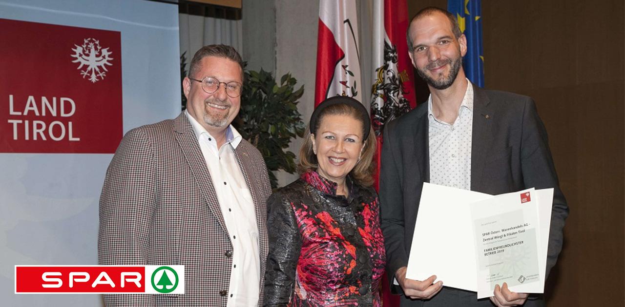 Auszeichnung für SPAR-Zentrale Wörgl