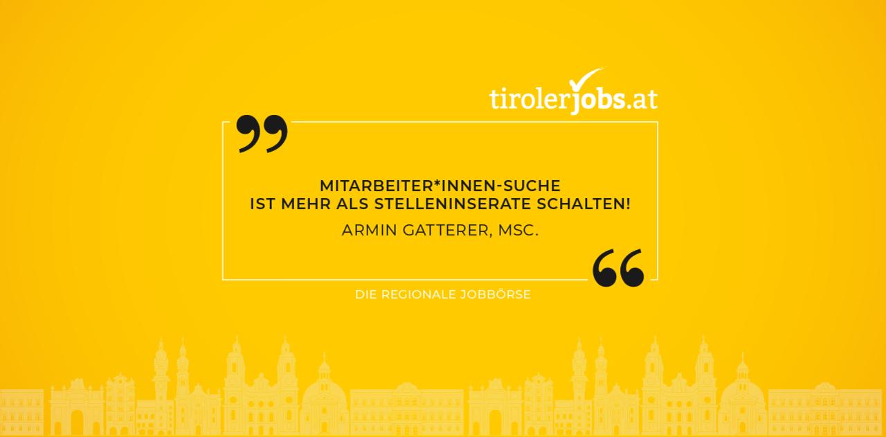 Die brandneue Jobbörse für Tirol